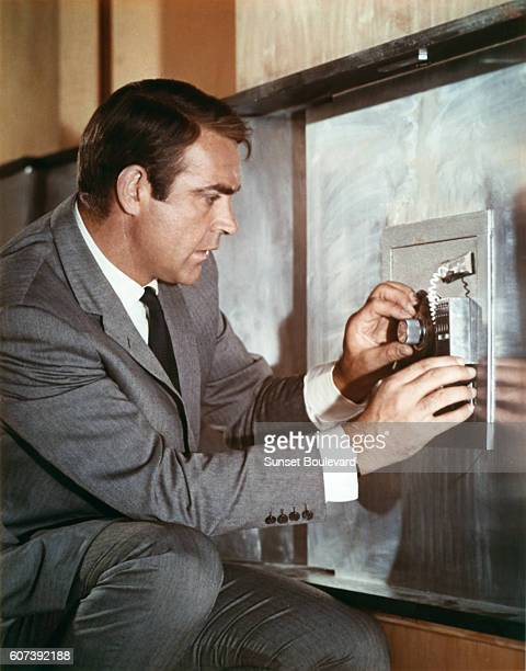 Scotish actor Sean Connery on the set of You Only Live Twice directed by Lewis Gilbert