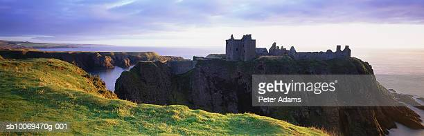 Scotland, Aberdeen, Dunnotar Castle and North Sea