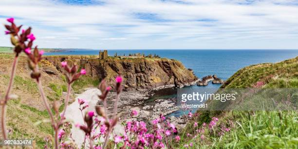 Scotland, Aberdeenshire, Ruins of Dunnotar Castle at the sea