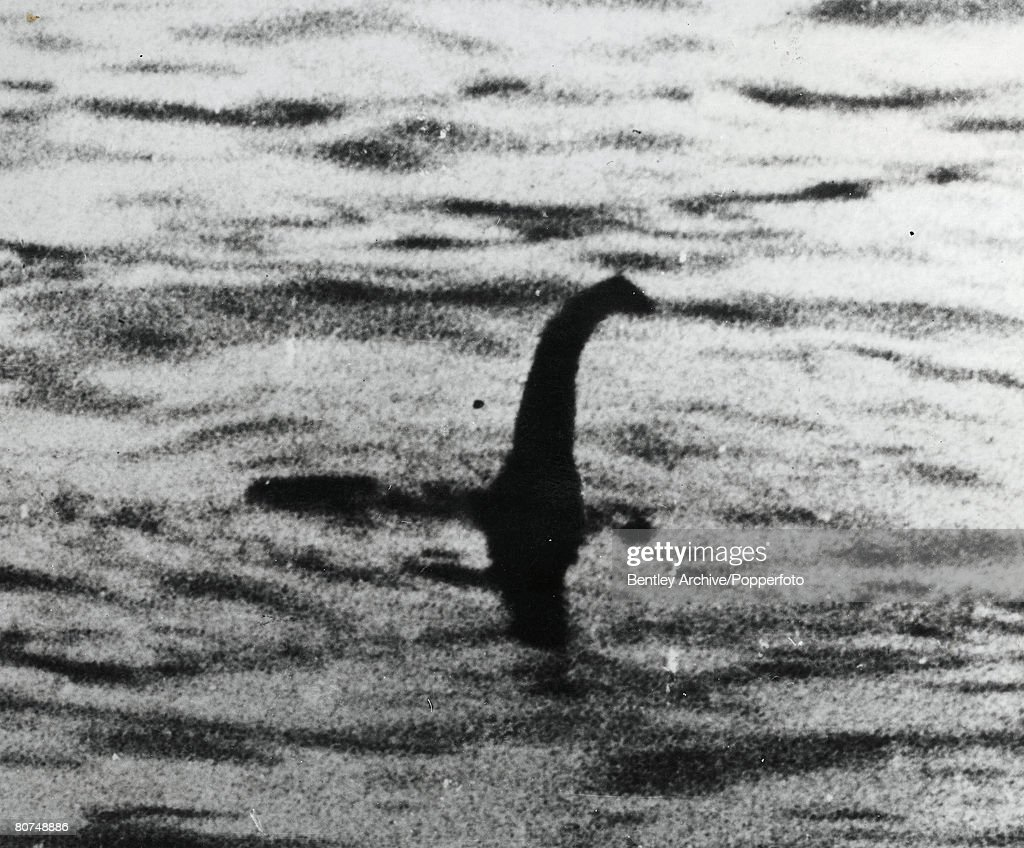Scotland August, 1934. A photograph allegedly showing the Loch Ness monster. This photograph was revealed as a fake many years later. : News Photo