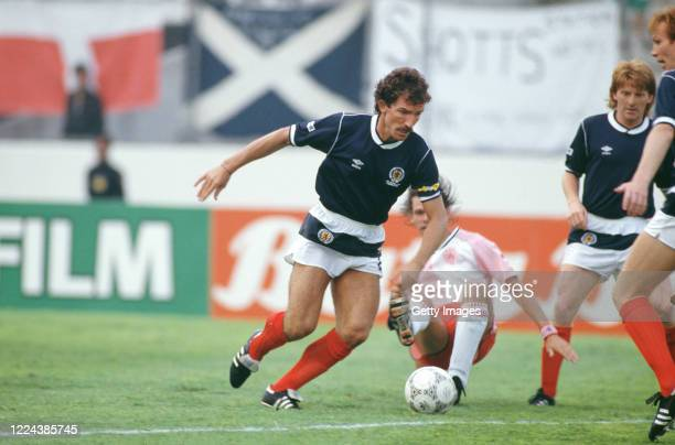 Scotland captain Graeme Souness in action during the 1986 FIFA World Cup match against Denmark in Neza, Mexico on June 4, 1986.