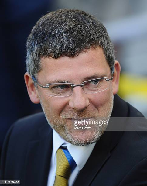 Scotland coach Craig Levein looks on during the Carling Nations Cup match between Wales and Scotland at Aviva Stadium on May 25 2011 in Dublin Ireland