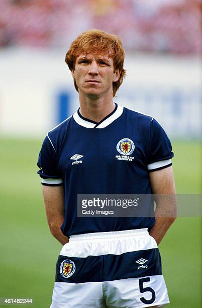 Scotland defender Alex McLeish pictured before the 1986 FIFA World Cup match between Denmark and Scotland on June 4 1986 in Nezahualcyotl Mexico