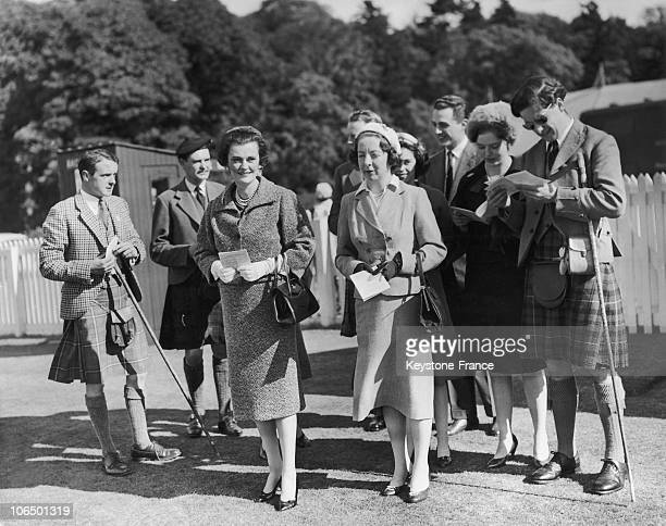 Scotland Duchess Of Argyll At Perth Hunt Races September 1959