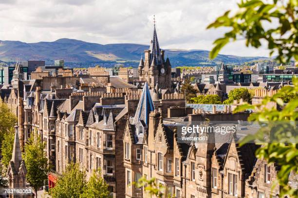 UK, Scotland, Edinburgh, old town, typical houses in Forrest Road