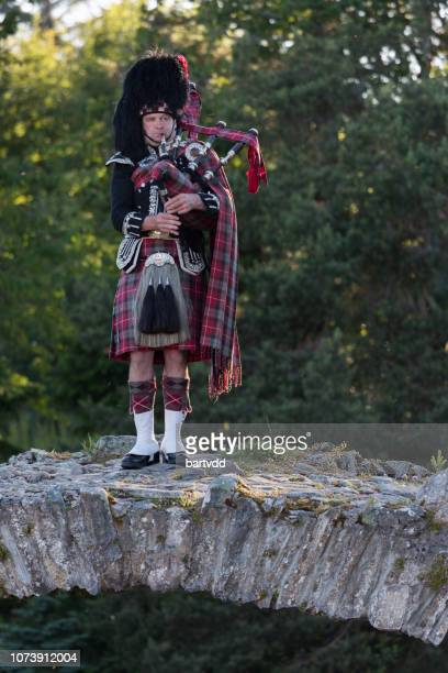 scotland, europe, bagpipes - inverness scotland stock pictures, royalty-free photos & images