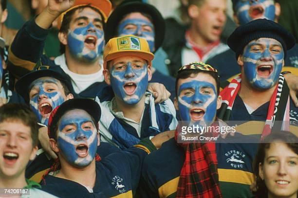 Scotland fans during the 1991 Rugby World Cup playoff New Zealand beat Scotland 613
