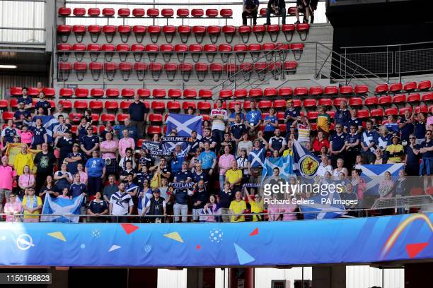 Scotland fans during the FIFA Women's World Cup Group D match at Roazhon Park Rennes