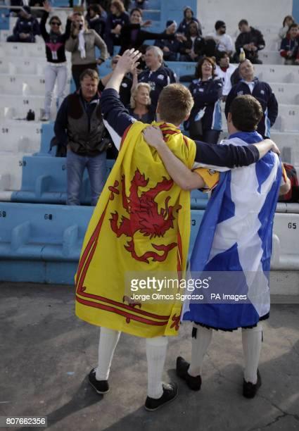 Scotland fans during their first test match at the Estadio Monumental Jose Fierro in Tucuman Argentina