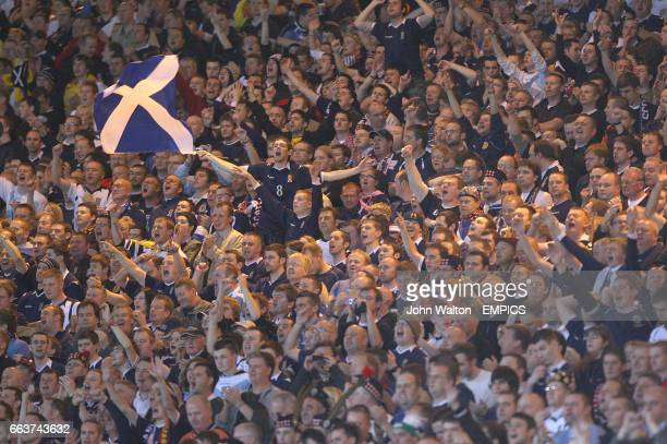 Scotland fans in the stands