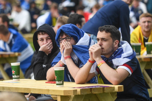 GBR: Football Fans Gather In Glasgow To Watch Scotland's Debut Euro 2020 Match