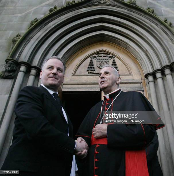 Scotland First Minister Jack McConnell with Cardinal Keith O'Brien at a Requiem Mass for Pope John Paul II who died on Saturday