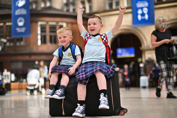 GBR: Scottish Football Fans Head South Ahead Of Euro Game with England