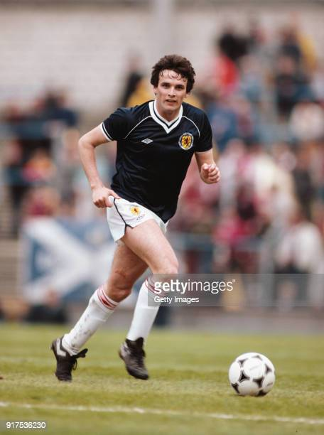 Scotland fullback Frank Gray in action with an adidas Tango Football during a match against Wales at Ninian Park on May 28th in Cardiff Wales