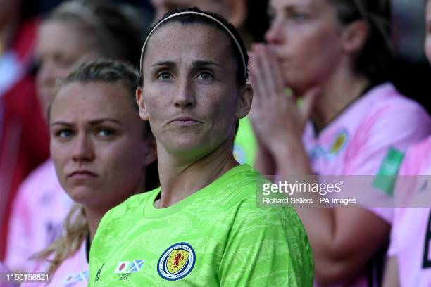 Scotland goalkeeper Shannon Lynn during the FIFA Women's World Cup Group D match at Roazhon Park Rennes