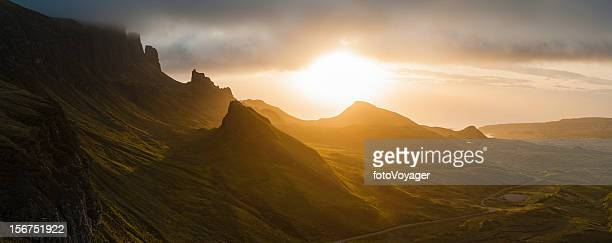 Scotland golden sunrise Isle of Skye Highlands panorama