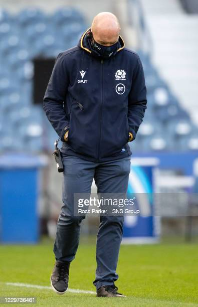 Scotland Head Coach Gregor Townsend during an Autumn Nations Cup tie between Scotland and France at BT Murrayfield, on November 22 in Edinburgh,...