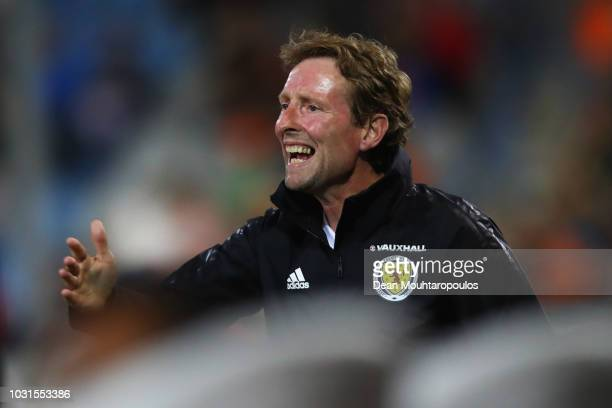 Scotland Head Coach / Manager Scot Gemmill looks on during the UEFA European Under21 Championship group 4 qualifying match between Netherlands and...