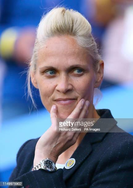 Scotland head coach Shelley Kerr during the FIFA Women's World Cup Group D match at Roazhon Park Rennes