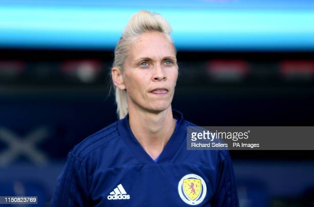 Scotland head coach Shelley Kerr during the FIFA Women's World Cup Group D match at the Parc des Princes Paris