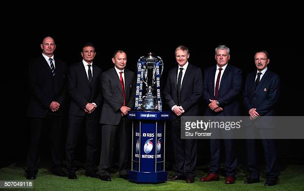 Scotland head coach Vern Cotter France head coach Guy Noves England head coach Eddie Jones Ireland head coach Joe Schmidt Wales head coach Warren...