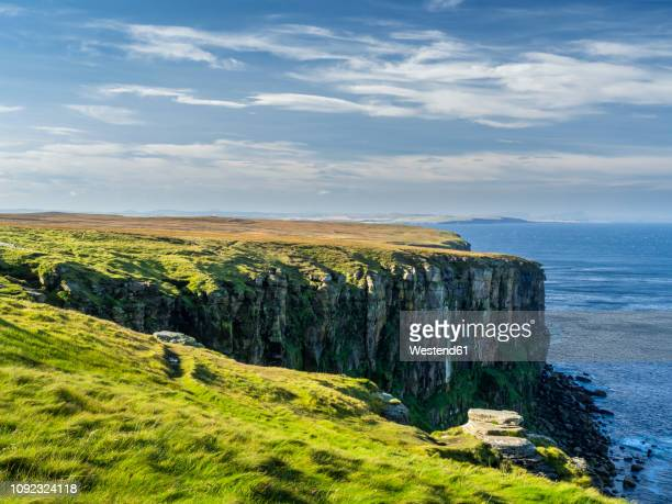 uk, scotland, highland, southland, dunnet head - rocky coastline stock pictures, royalty-free photos & images