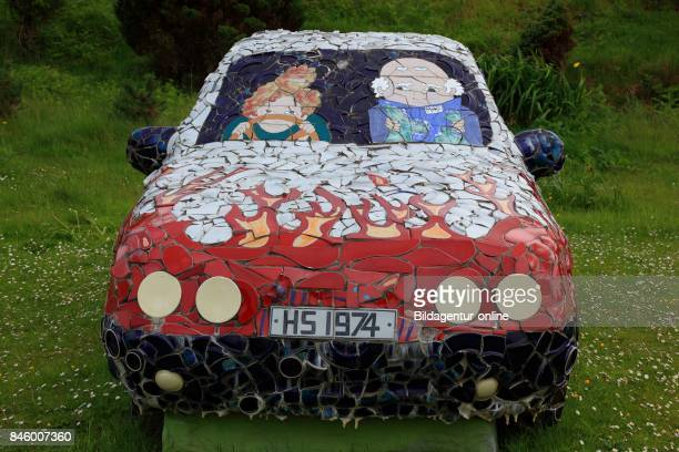 Scotland Highlands Lochinver with Highland Stoneware Pottery Car Pottery Pieces of Art of Tone Sound Shards
