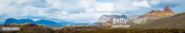Scotland Highlands mountain peaks panorama Suilven Cul Mor Stac Pollaidh