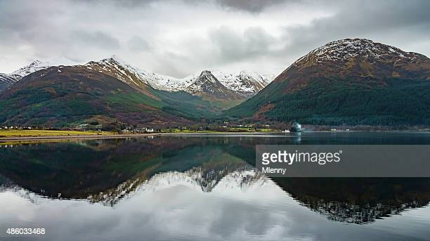 Scotland Highlands Mountain Reflection in Loch Linnhe