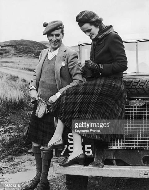 Scotland Ian Campbell 11Th Duke Of Argyll And Margaret Campbell Duchess Of Argyll April 1952