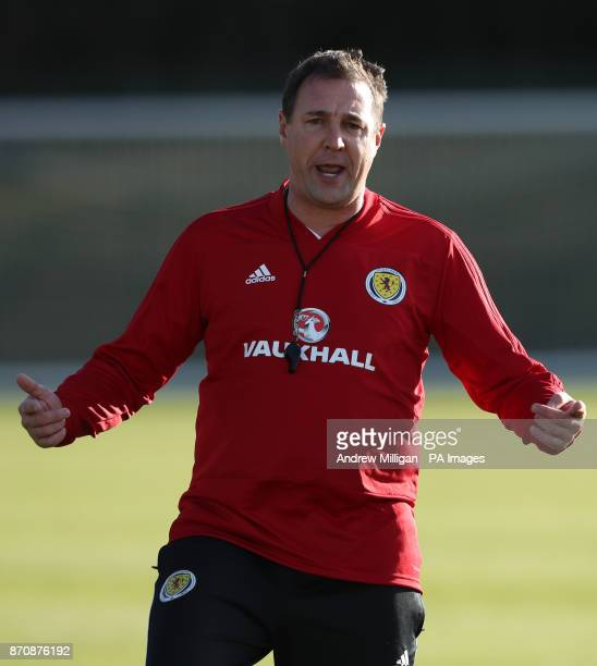 Scotland interim manager Malky Mackay during the training session at Heriot Watt University Oriam