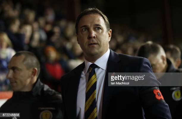 Scotland interim manager Malky MacKay is seen during the International Friendly between Scotland and Netherlands at Pittodrie Stadium on November 9,...