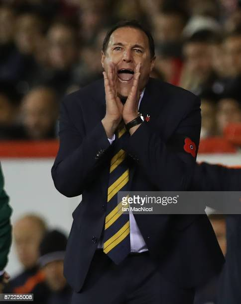 Scotland interim manager Malky MacKay is seen during the International Friendly between Scotland and Netherlands at Pittodrie Stadium on November 9...