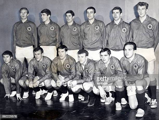 Scotland international football squad 1966 football back Billy mcNeill Bobby Clark Bobby Ferguson Ron McKinnon John Greig Tommy Gemmell front Willie...