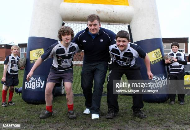 Scotland international Moray Low during the announcement at Musselburgh Rugby Club of a significant investment into the grassroots game including the...