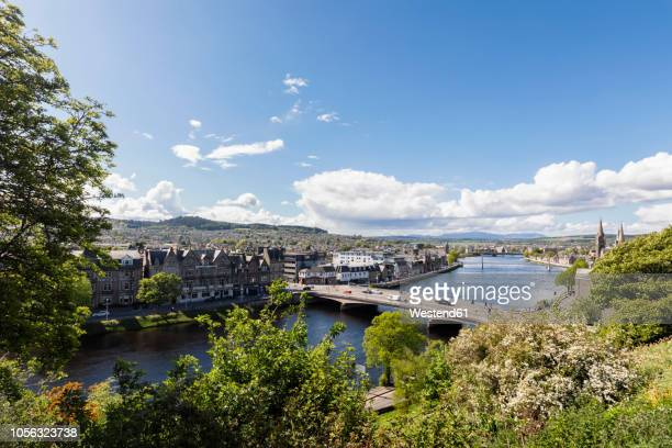 uk, scotland, inverness, cityscape with river ness - inverness stock photos and pictures