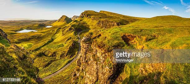 Scotland Isle of Skye country road idyllic Highlands mountains panorama