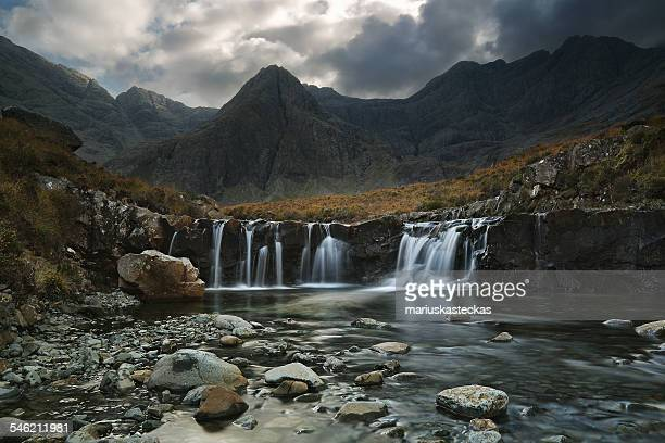 UK, Scotland, Isle of Skye, Cullins, Coire ne Creiche, Fairy Pools