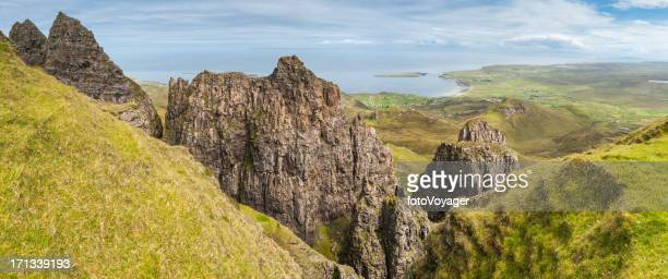 Scotland Isle of Skye Highland pinnacles on Trotternish Peninsula