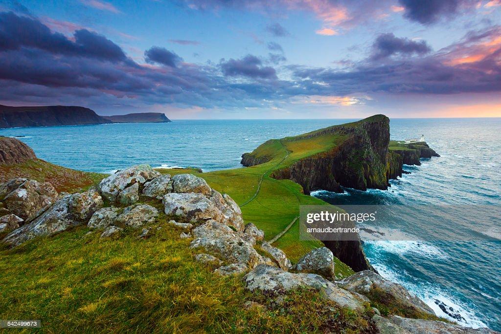 Scotland, Isle of Skye, Neist Point, Scenic view of coastline : Stock Photo