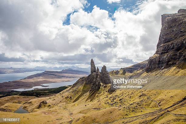 scotland - isle of skye - old man of storr - christine wehrmeier stock pictures, royalty-free photos & images