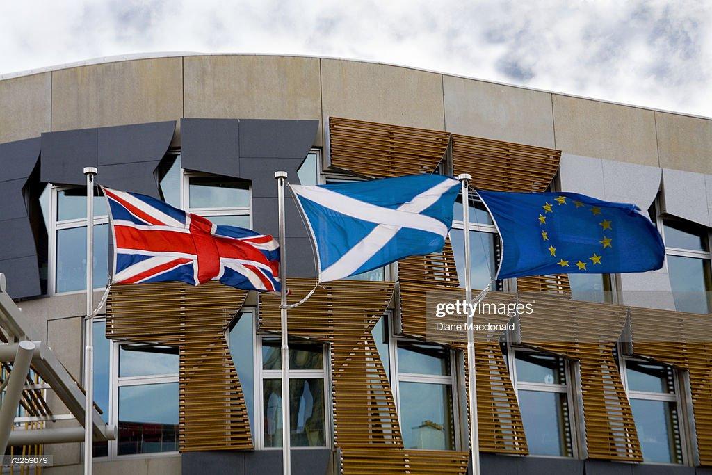 Scotland, Lothian, Edinburgh, Scottish Parliament Building : Stock Photo