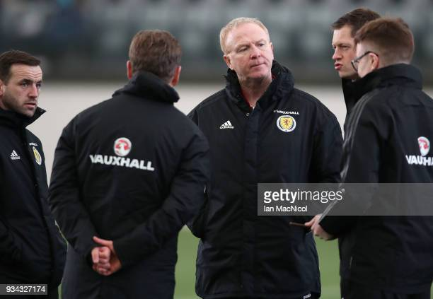 Scotland manager Alex McLeish is seen during a training session prior to the international friendly match between Scotland and Costa Rica at Orium...