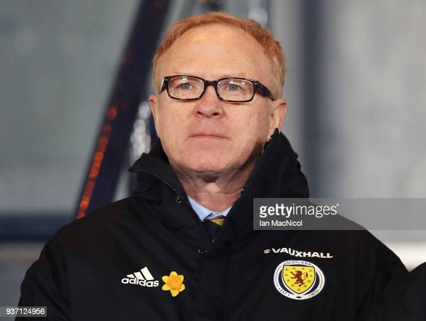 Scotland manager Alex McLeish is seen during the Vauxhall International Challenge match between Scotland and Costa Rica at Hampden Park on March 23...