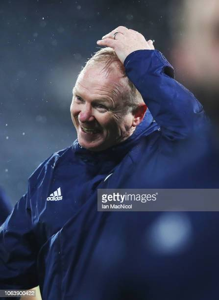 Scotland manager Alex McLeish reacts at the end of the UEFA Nations League C group one match between Scotland and Israel at Hampden Park on November...