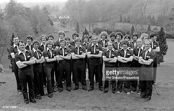 Scotland manager Ally MacLeod with his World Cup squad before leaving Glasgow to compete in the FIFA World Cup Finals in Argentina circa June 1978