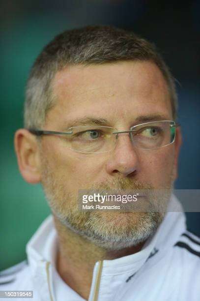 Scotland manager Craig Levein looks on during the International Friendly match between Scotland and Australia at Easter Road on August 15 2012 in...