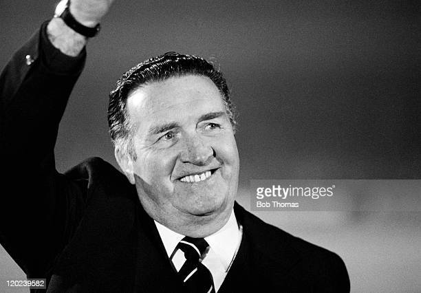 Scotland manager Jock Stein looking relaxed after their World Cup Qualifying match against Northern Ireland at Windsor Park in Belfast 14th October...