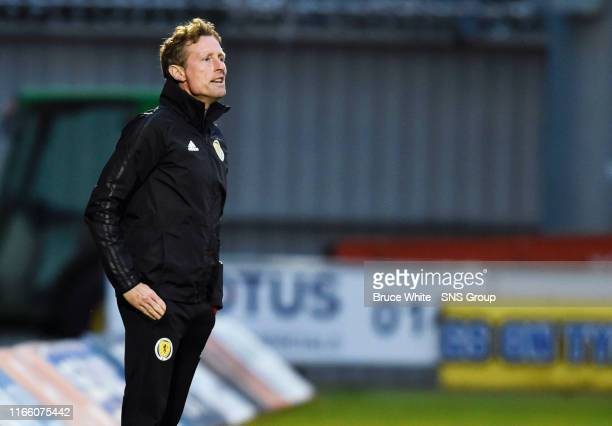 Scotland manager Scot Gemmill is pictured during the UEFA Under 21's Championship Qualifier between Scotland and San Marino at the Simple Digital...