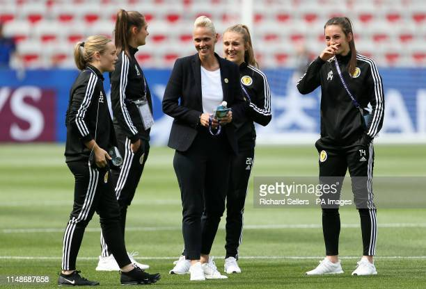 Scotland manager Shelley Kerr during the FIFA Women's World Cup Group D match at the Stade de Nice